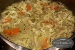 Тарский суп умач аши с курицей