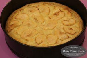 Цветаевский песочный пирог с яблоками
