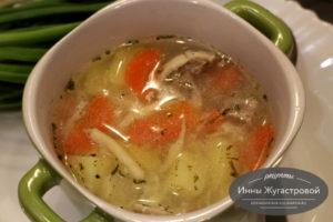 Татарский суп с лапшой умач аши