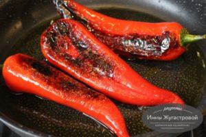 Перец, обжаренный на оливковом масле а-ля Падрон