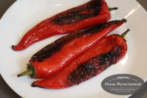 Целый сладкий перец, жаренный на оливковом масле