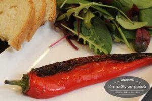 Жареный по-испанки перец на оливковом масле