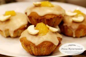 Апельсиновые кексы с апельсиновой глазурью
