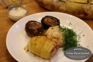 Куриные биточки с картофелем и грибами