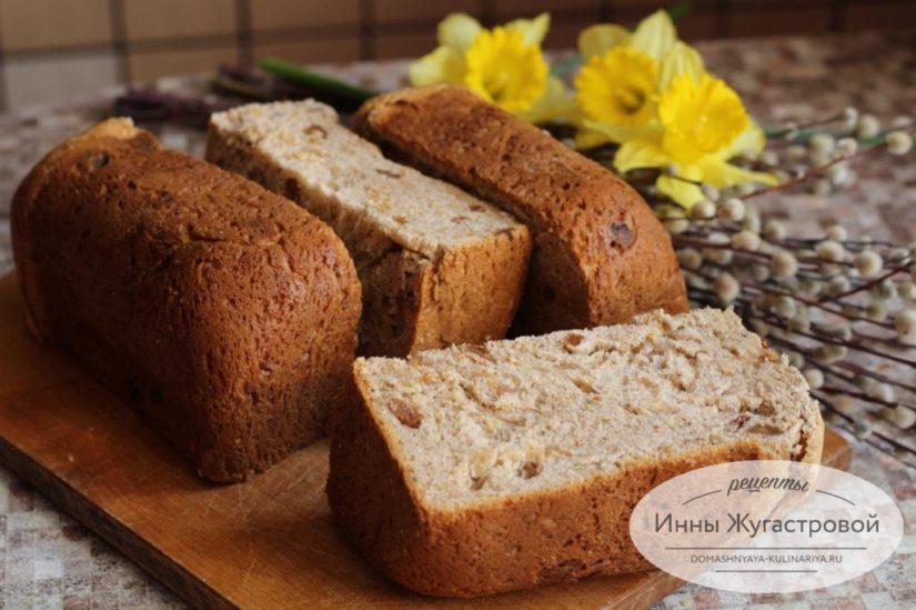Пасхальный кулич в хлебопечке Мулинекс, рецепт сладкого сдобного кулича весом 1 кг