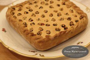 Песочный пирог с квашеной капустой
