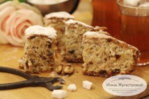 Пирог Мазурка и чугунные щипчики для сахара