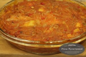 Судак в томатном соусе в духовке
