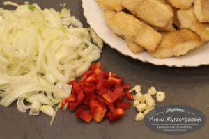 Шаг 5. Овощи нарезать