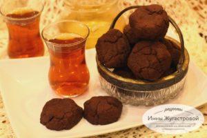 Медово-шоколадное печенье с какао и шоколадом