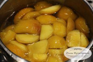 Начинка из персиков для тирамису
