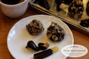 Конфеты Трюфели, кешью и сыр в шоколаде
