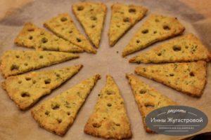 Сырное хрустящее печенье с базиликом