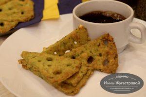 Сырное печенье (крекеры) с базиликом