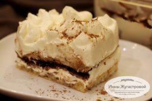 Прослойка из ганаша в десерте тирамису
