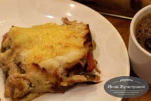 Ленивая лазанья из макарон с любой начинкой под соусом бешамель