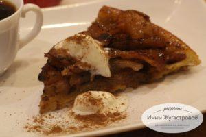 Яблочный перевернутый пирог Тарт Татен