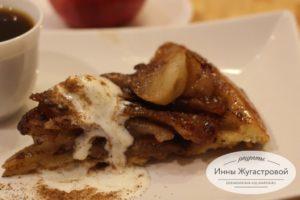 Французский яблочный пирог перевертыш тарт Татен по классическому рецепту