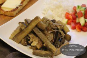 Жареные на сковороде баклажаны со вкусом грибов