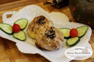 Колобки из лаваша с овощной начинкой в духовке