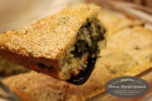 Закусочный наливной пирог с брокколи
