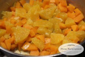Потушить тыкву с апельсином