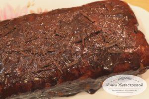Мраморный кекс с шоколадной помадкой
