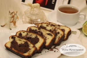Простой рецепт мраморного кекса