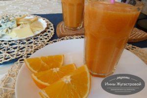 Смузи апельсин папайя