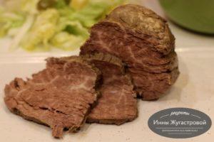 Отварная говядина для салатов и бутербродов