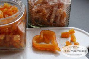Янтарные Апельсиновые цукаты для выпечки и на десерт