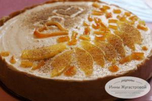 Апельсиновый чизкейк без выпечки с сыром маскарпоне