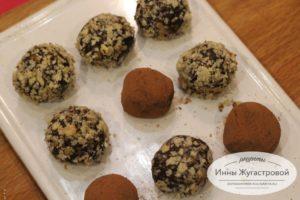 Шоколадные конфеты из печенья савоярди