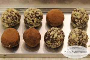 Шоколадно кофейные трюфели с добавлением ликера