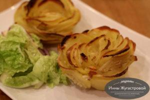 Картофельные розы в духовке