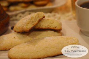 Печенье Савоярди в разрезе