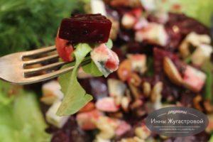 Салат из маринованной свеклы с Дорблю