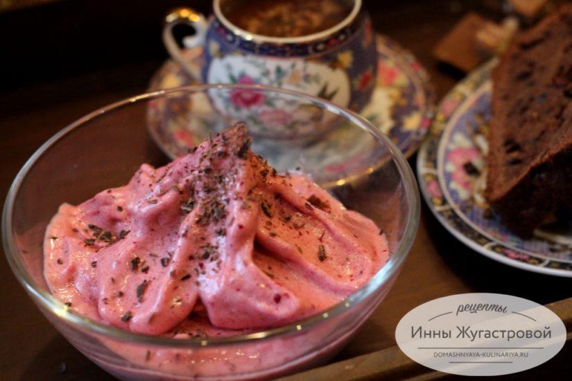 Веганское вишневое мороженое (вишневый сорбет) на банановой основе