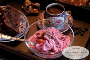 Постное веганское вишневое мороженое