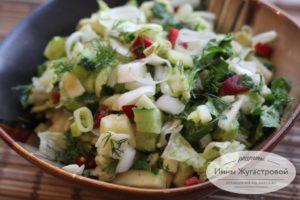 Яркий вкусный полезный салат из авокадо