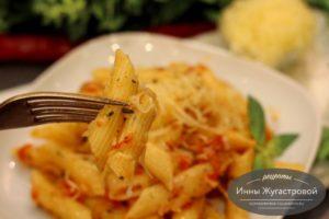 Итальянские макароны с овощами