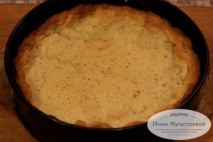 Песочный корж для тарта