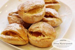 Слоеные пирожные с абрикосами Поцелуйчики