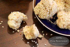 Кунжутное песочное печенье