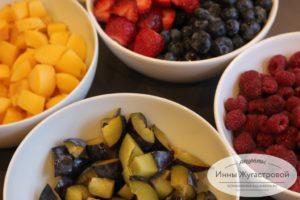 Подготовить ягоды и фрукты
