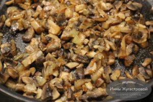Обжаренные с луком грибы