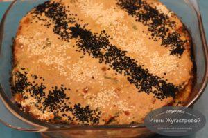 Наливной сырный пирог