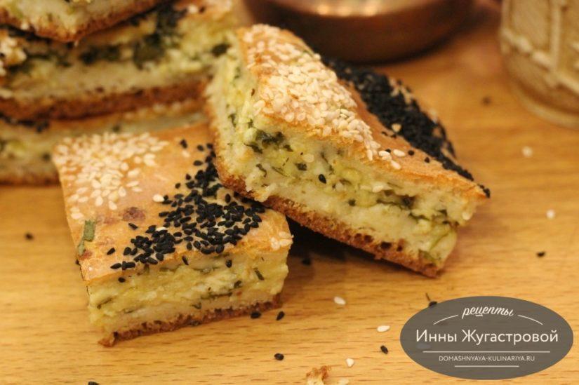 Наливной (заливной) пирог с сыром по быстрому и простому рецепту
