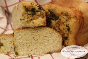 Чесночный хлеб в хлебопечке Мулинекс
