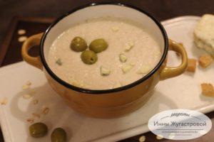 Геркулесовый протертый суп с курицей